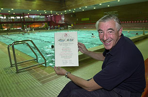 Michael Read showing a CSA Certificate