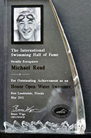 Michael Reads International Swimming Hall of Fame trophy